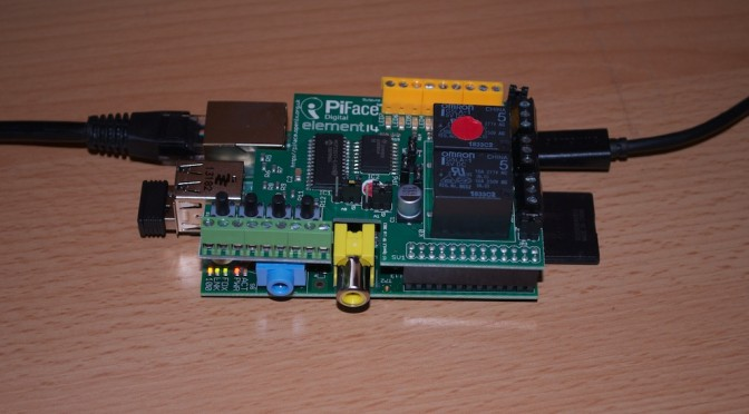 RasPi & PiFace in action
